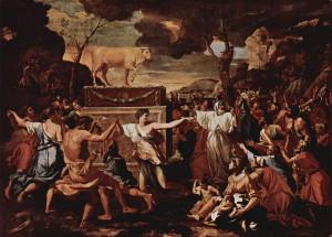 The Adoration of the Golden Calf - Nicolas Poussin