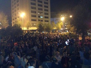 Vigil for Peace in Jerusalem October 17 2015