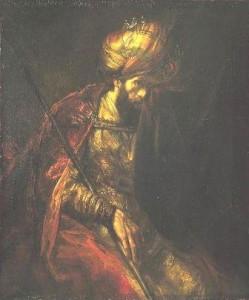 King Saul Rembrandt van Rijn 17th century
