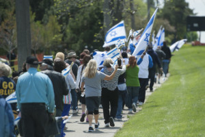 Walk for Israel at Temple Shir Shalom. May 18, 2014. Photo by David Guralnick